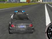 警察車のドリフト