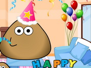 Play Pou Birthday Party