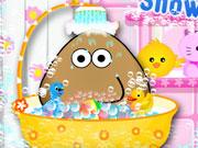 Play Pou Takes A Shower
