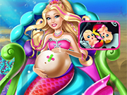 Play Pregnant Barbie Mermaid Emergency