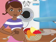 Play Pregnant Doc Mcstuffins Ironing Clothes