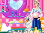 妊娠中のエルザとオラフバブルバス