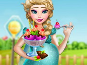 Play Pregnant Elsa Ice Cream Cravings