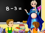 Play Pregnant Elsa School Teacher