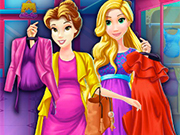 Play Pregnant Princesses Mall Shopping