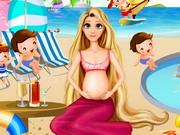 妊娠中のラプンツェルプールパーティー