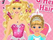 プリンセスと赤ちゃんのヘアスタイル