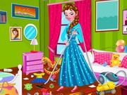 Play Princess Elsa Bedroom Cleaning