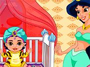 Play Princess Jasmine Baby Caring