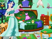 プリンセスジャスミンのベッドルームクリーニング
