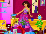 Play Princess Jasmine Living Room Cleaning