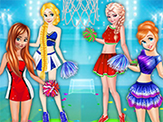 Play Princesses Basketball Team Cheerleader