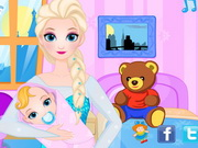 Play Queen Elsa Give Birth To A Baby Girl