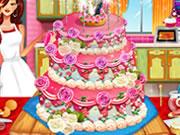 現実的なウエディングケーキの装飾