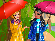 レトロな雨