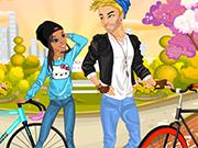 一緒にあなたの自転車に乗ります