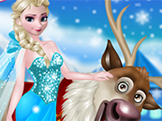 Play Rudolph and Elsa in the Frozen Forest