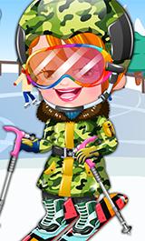 Play Baby Hazel Skier Dressup