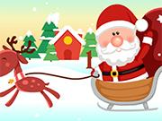 サンタクリスマスギフトラッシュ