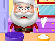 Play Santa Cooking Red Velvet Cake