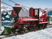 サンタ蒸気機関車の配達