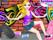 スケーターの女の子がドレスアップ