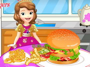 Play Sofia The First Cooking Hamburgers
