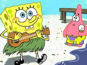 Play Spongebob At Beach Jisaw