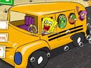 スポンジボブのスクールバス