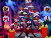 不気味なクリスマスツリーの装飾
