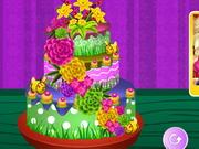 春の花のケーキ