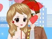 Play Sweet Valentine Kiss Dressup