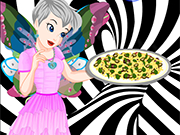 Play Tinkerbell Black And White Pizza