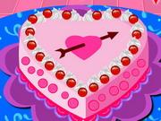 バレンタインケーキデコレーション