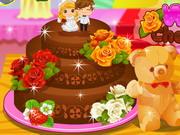 結婚式のチョコレートケーキ