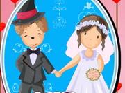 結婚式のカップルドールハウスインテリア