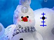 冬の雪だるまのエスケープ