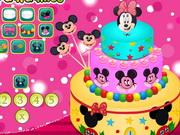 おいしいミニーマウスのケーキ
