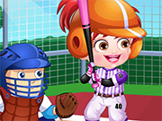 Play Baby Hazel Baseball Player Dressup
