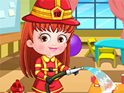 Play Baby Hazel Firefighter Dress Up