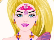 Barbie Princess Face Painting