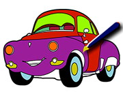 Cartoon Cars Coloring