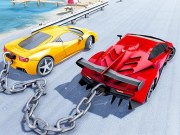 Chained Car Stunts Race Mega Ramp GT Racing