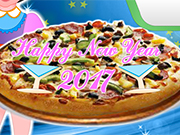 Cooking New Year Pizza 2017