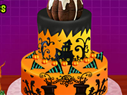 Creepy Halloween Cream Cake