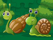 Play Cute Snails Jigsaw