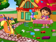 Dora Birthday Bash Cleaning